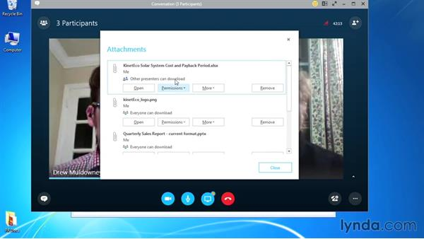 Setting file permissions: Up and Running with Skype for Business