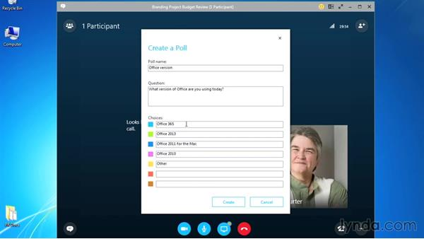 Polling participants: Up and Running with Skype for Business