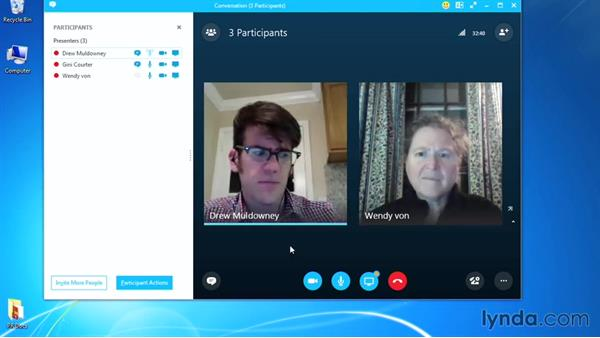Managing meeting participants: Up and Running with Skype for Business