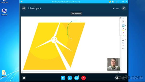 Using a whiteboard: Up and Running with Skype for Business