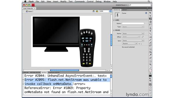 Loading video: ActionScript 3.0 in Flash CS4 Professional for Designers