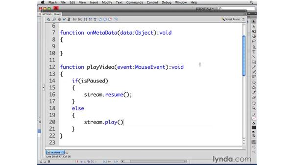 Controlling video playback: ActionScript 3.0 in Flash CS4 Professional for Designers