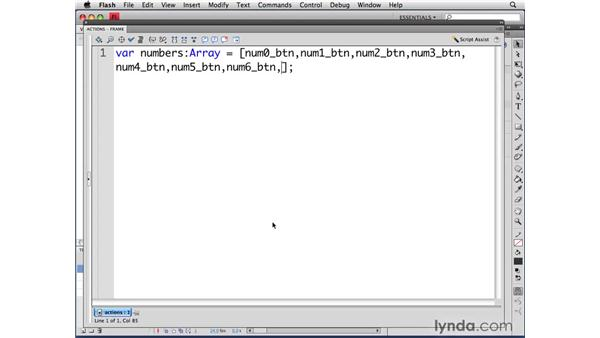 Setting up the variables: ActionScript 3.0 in Flash CS4 Professional for Designers