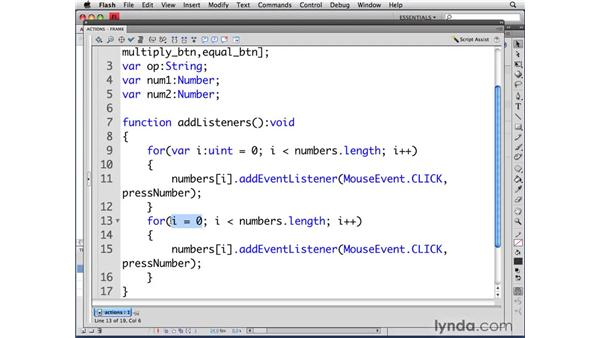 Adding event listeners: ActionScript 3.0 in Flash CS4 Professional for Designers