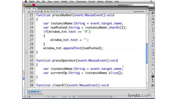 Finding the current operation: ActionScript 3.0 in Flash CS4 Professional for Designers