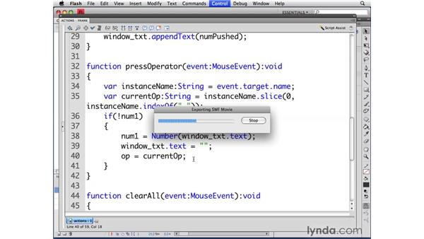 Capturing numbers: ActionScript 3.0 in Flash CS4 Professional for Designers