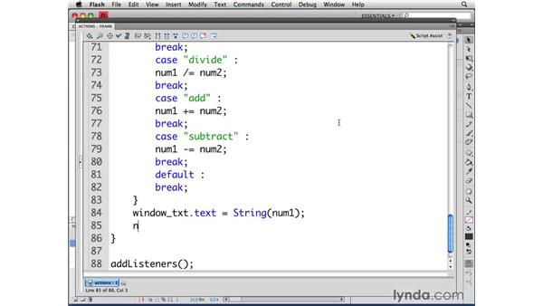 Performing calculations: ActionScript 3.0 in Flash CS4 Professional for Designers