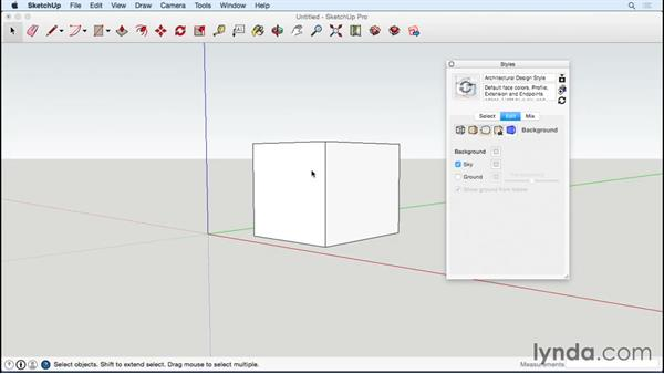 Editing the template and default style: Designing a Tiny House with SketchUp