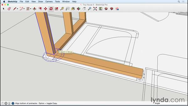 Creating the remaining studs: Designing a Tiny House with SketchUp