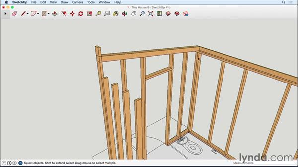 Framing the end wall: Designing a Tiny House with SketchUp