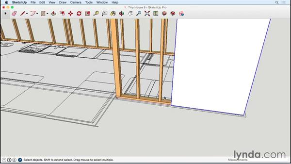 Assigning layers and texturing plywood: Designing a Tiny House with SketchUp