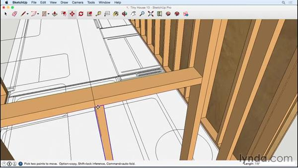 Completing the exterior sheathing: Designing a Tiny House with SketchUp