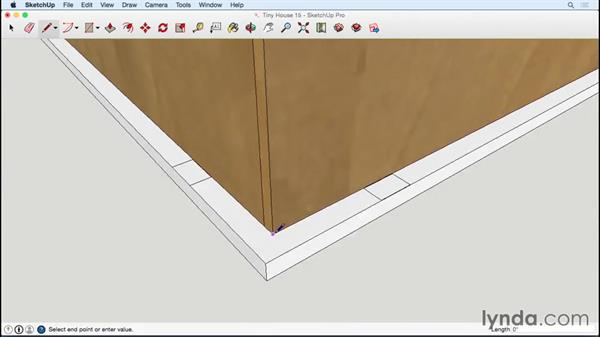 Adding exterior trim to the end walls and roof: Designing a Tiny House with SketchUp