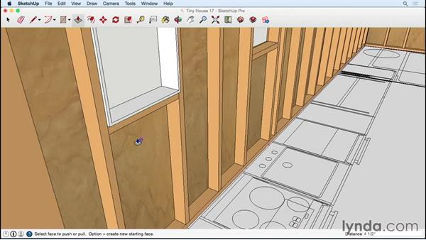 Trimming out two windows with Offset and Push/Pull: Designing a Tiny House with SketchUp