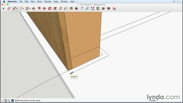 Trimming out four windows and the door: Designing a Tiny House with SketchUp