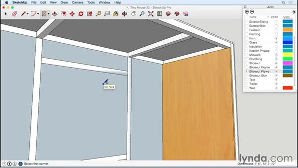Detailing the inside of the slide-out: Designing a Tiny House with SketchUp