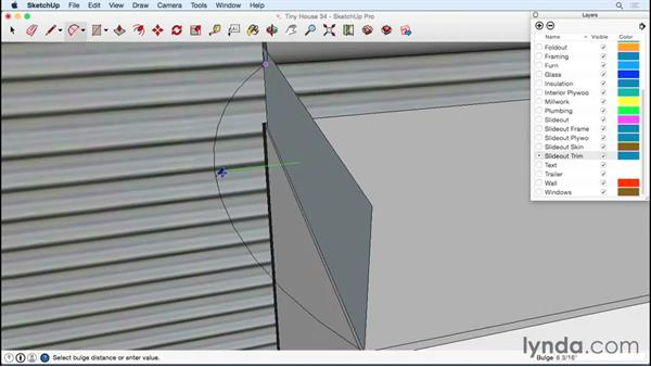 Detailing the rain shield: Designing a Tiny House with SketchUp