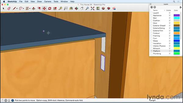 Building a platform floor above the bed: Designing a Tiny House with SketchUp