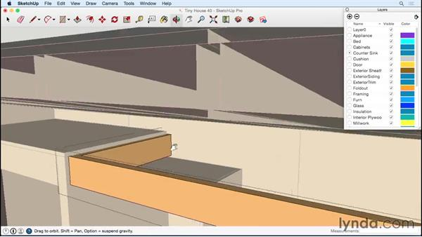 Completing the kitchen cabinets: Designing a Tiny House with SketchUp