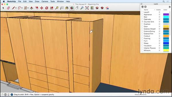Simulating a tambour door: Designing a Tiny House with SketchUp