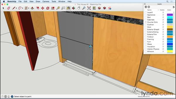 Adding appliances: Designing a Tiny House with SketchUp