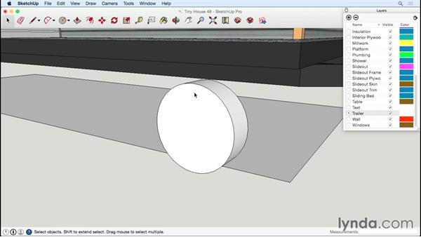 Making wheels and axles: Designing a Tiny House with SketchUp