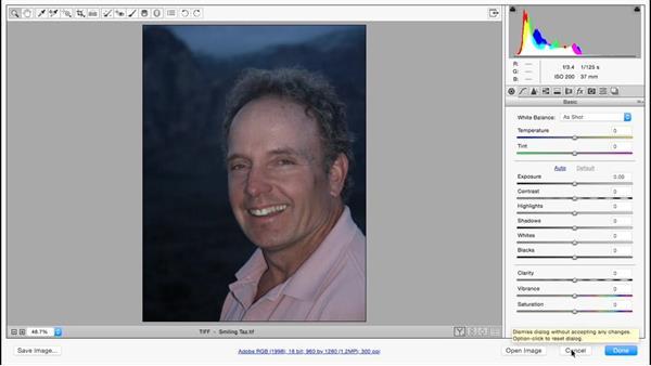 Evaluating skin tones: Color Correction in Adobe Camera Raw