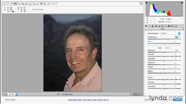 Adjusting skin tones: Color Correction in Adobe Camera Raw