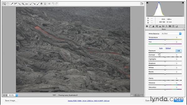 Adjusting poor exposure: Color Correction in Adobe Camera Raw