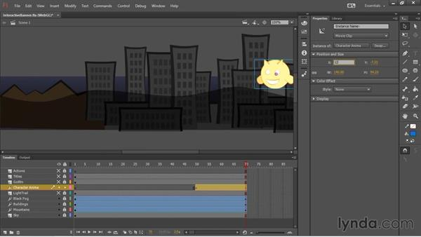Animating the content: HTML5 Canvas and WebGL in Flash Professional CC