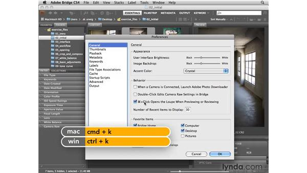 Essential Bridge preferences: Photoshop CS4 for Photographers: Camera Raw