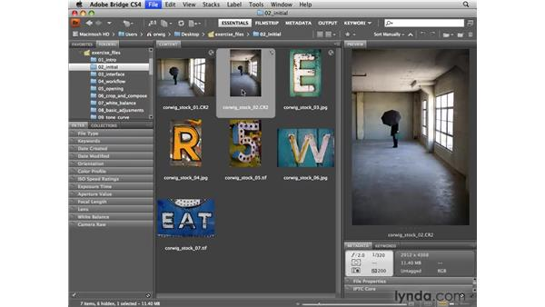Opening images in Camera Raw: Photoshop CS4 for Photographers: Camera Raw
