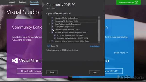 Installing Visual Studio: Visual Studio 2015 Essentials 01: Exploring the Visual Studio Ecosystem