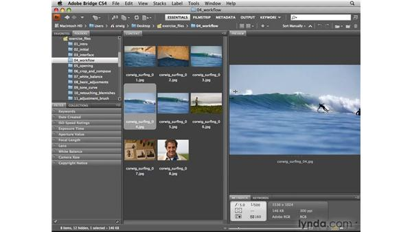 Viewing and reviewing photos: Photoshop CS4 for Photographers: Camera Raw