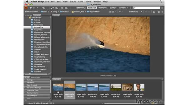 Using Bridge to label, rank, sort, and filter: Photoshop CS4 for Photographers: Camera Raw