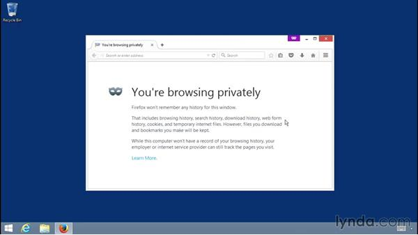 Browsing privately: Up and Running with the Firefox Browser