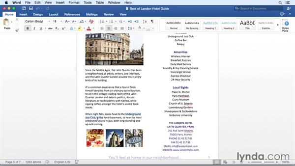 Using the new Bookmark feature: Office 365 for Mac: Word Essential Training