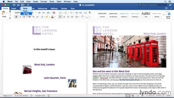 Undoing and redoing actions: Office 365 for Mac: Word Essential Training