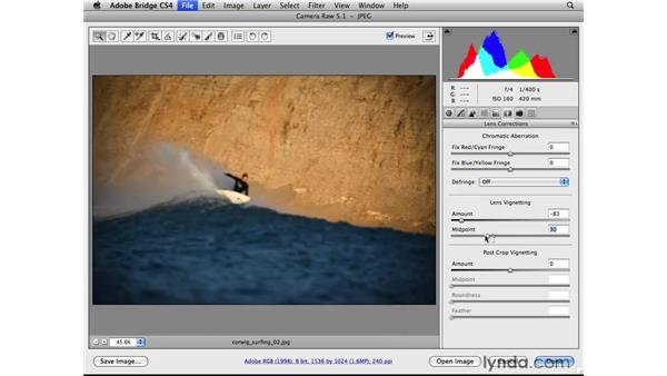 Adding a vignette: Photoshop CS4 for Photographers: Camera Raw