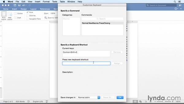 Creating and running a macro: Office 365 for Mac: Word Essential Training