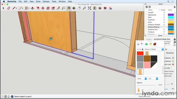 Working on the inside of the door wall: Designing a Tiny House with SketchUp
