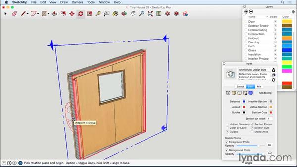 Modeling windows and frames: Designing a Tiny House with SketchUp