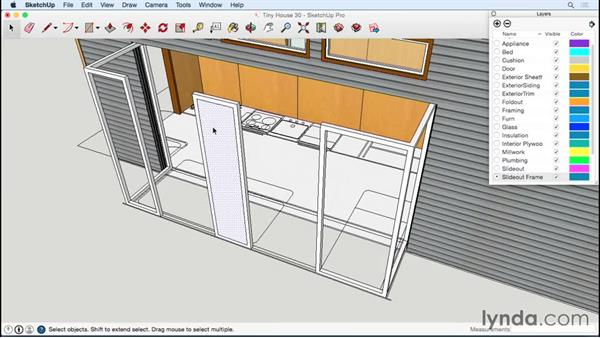 Designing the slide-out metal frame: Designing a Tiny House with SketchUp