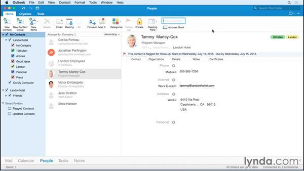 Finding contacts: Office 365 for Mac: Outlook Essential Training