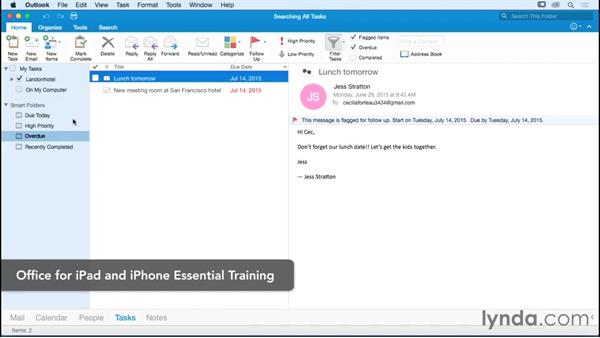 Next steps: Office 365 for Mac: Outlook Essential Training