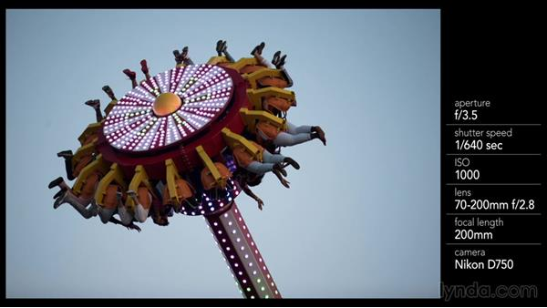 Getting the ideal shot of a ride lit up at night: Shooting a Photo Essay: Coney Island