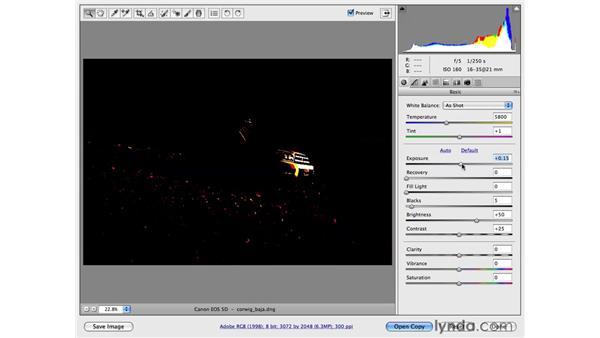 Basic adjustments speed tip: Photoshop CS4 for Photographers: Camera Raw