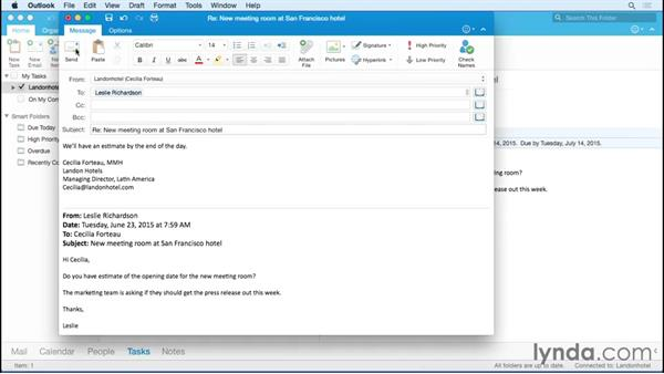 Finding tasks: Outlook for Mac 2016 Essential Training