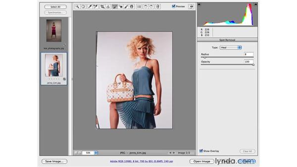 Cleaning up a studio background: Photoshop CS4 for Photographers: Camera Raw