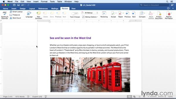 Editing user information: Word for Mac 2016 Essential Training